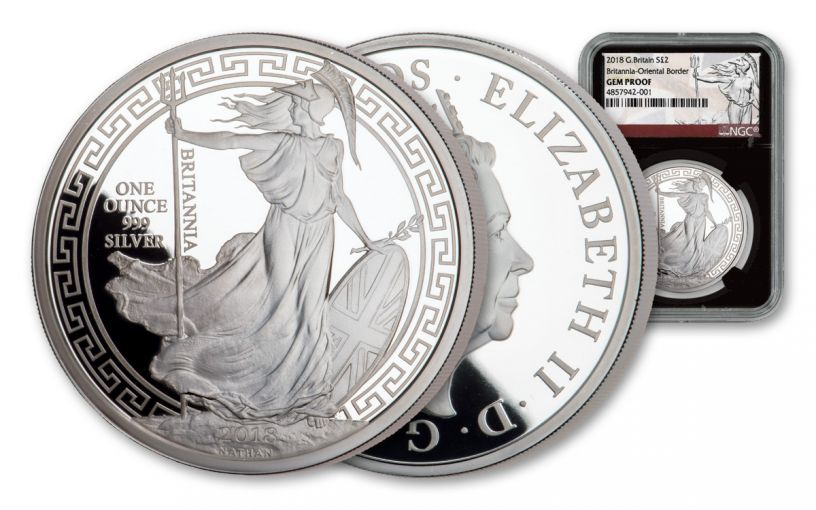 2018 Great Britain One-Ounce Silver Oriental Britannia NGC Gem Proof
