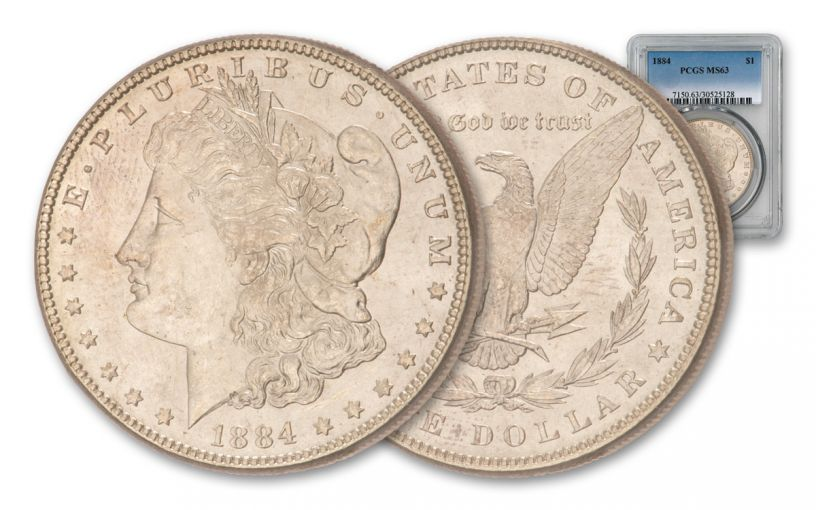 1884-P Morgan Silver Dollar PCGS/NGC MS63