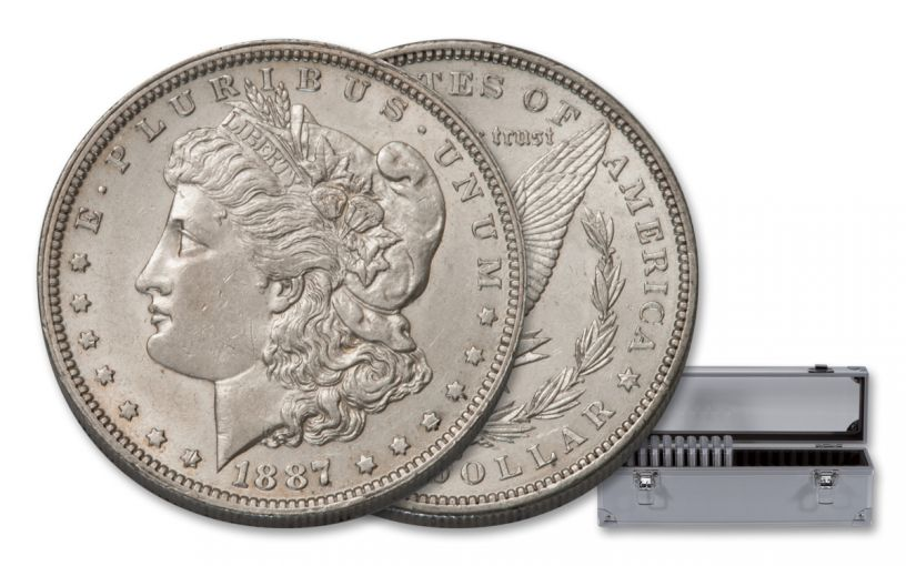 1883–1889-O/P $1 Morgan 10-Coin Set NGC BU Pittman Act Label