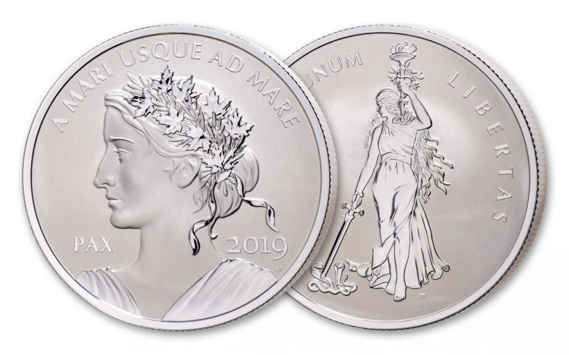 2019 Canada 10-oz Silver Peace & Liberty Medal Ultra High Relief Reserve Proof