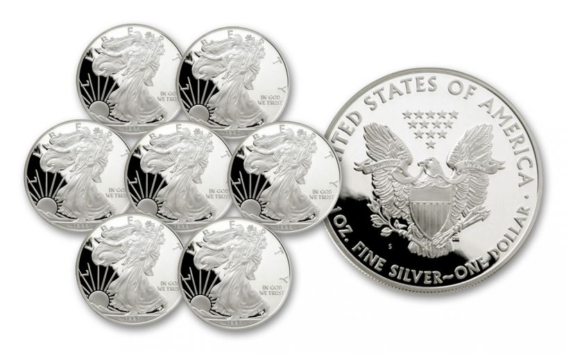 1986–1992-S $1 1-oz Silver American Eagle 7-Piece Proof Set