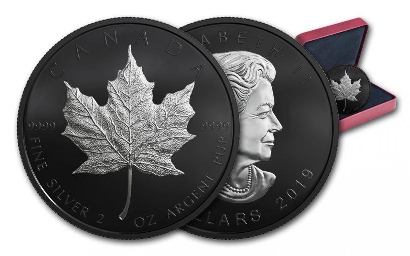 2019 Canada $10 2-oz Silver Maple Leaf Black Proof