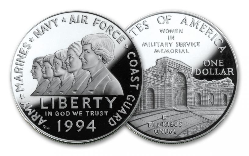 1994-P $1 Silver Women in the Military Commemorative Proof