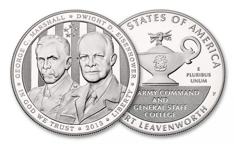 2013-P $1 Silver Five-Star Generals Commemorative Proof