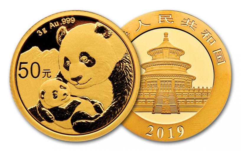 2019 China 3-Gram Gold Panda BU