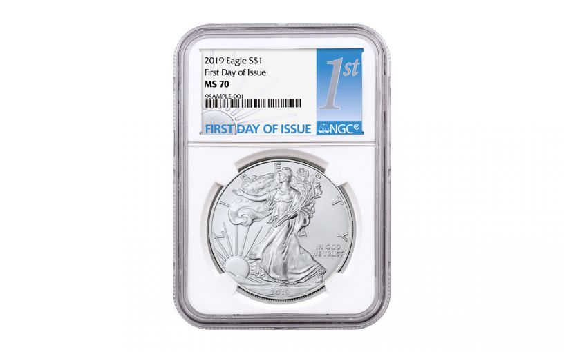 2019 $1 1-oz Silver American Eagle NGC MS70 First Day of Issue