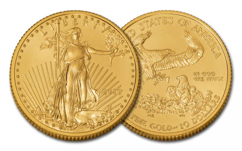 2019 $10 1/4-oz Gold American Eagle BU