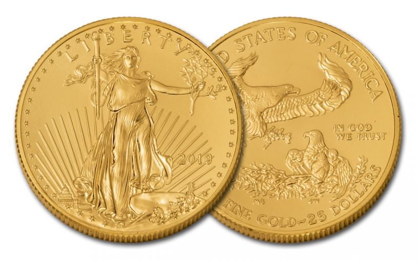 2019 $25 1/2-oz Gold American Eagle BU