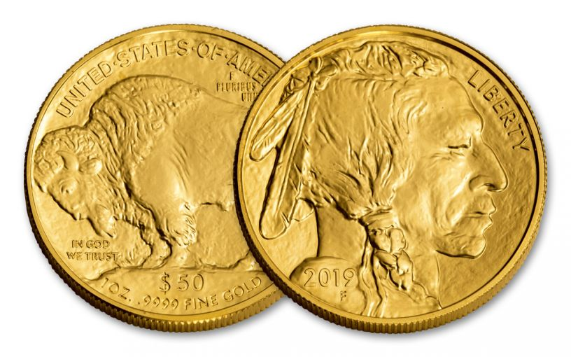 2019 $50 1-oz Gold Buffalo Brilliant Uncirculated