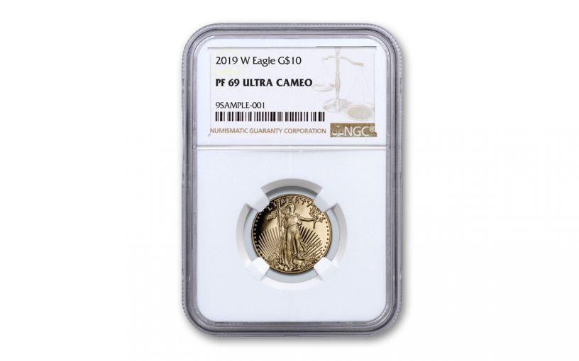 2019-W $10 1/4-oz Gold American Eagle NGC PF69UC