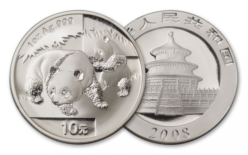 2008 China 1-oz Silver Panda BU