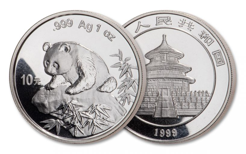 1999 China 1-oz Silver Panda BU
