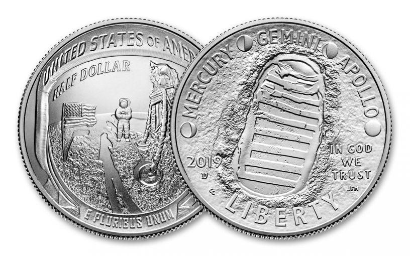 2019-D Apollo 11 50th Anniversary Clad Half Dollar BU
