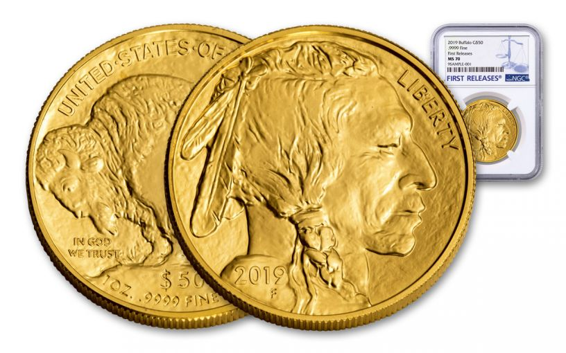 2019 $50 1-oz Gold Buffalo NGC MS70 First Releases