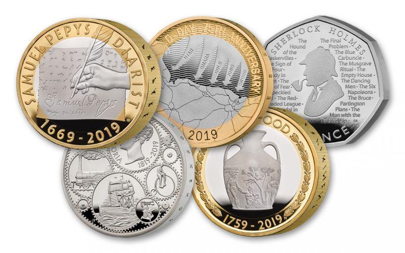2019 Great Britain Silver Annual 5-Piece Piedfort Proof Set
