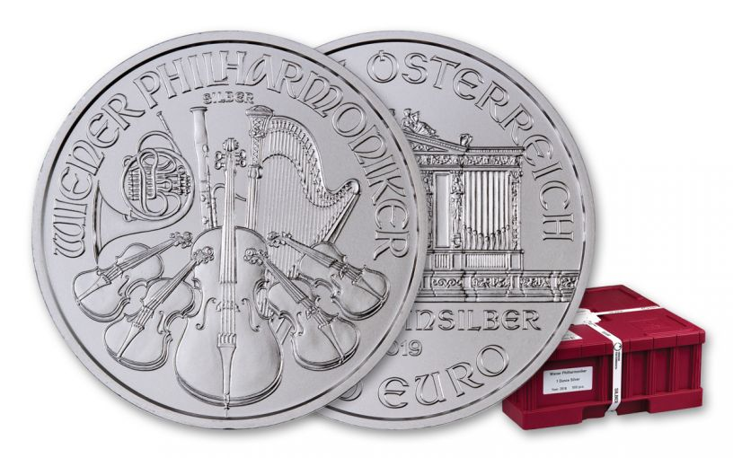 2019 Austria 1-oz Silver Philharmonic 1-oz BU 500-Piece Box