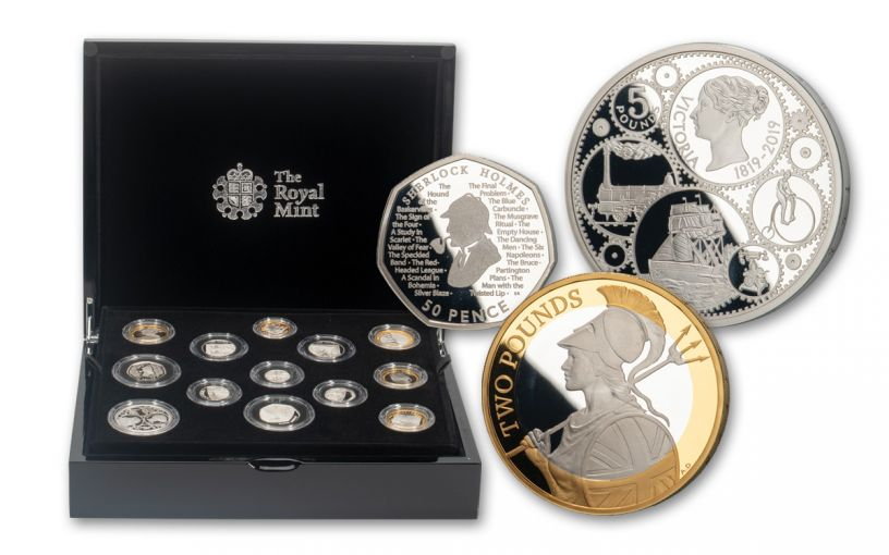 2019 Great Britain Silver Annual Proof 13-Piece Set