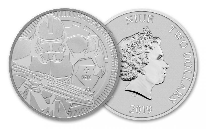 2019 Niue $2 1-oz Silver Star Wars Clone Trooper BU