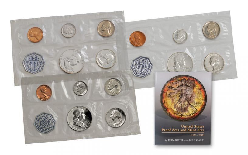 1961–1963 United States 3-Piece Proof Set Collection with Book