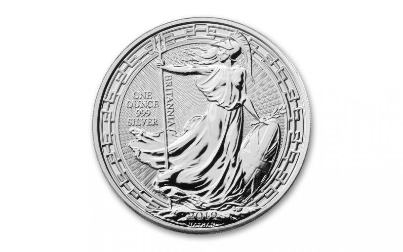 2019 Great Britain £2 1-oz Silver Oriental Britannia BU