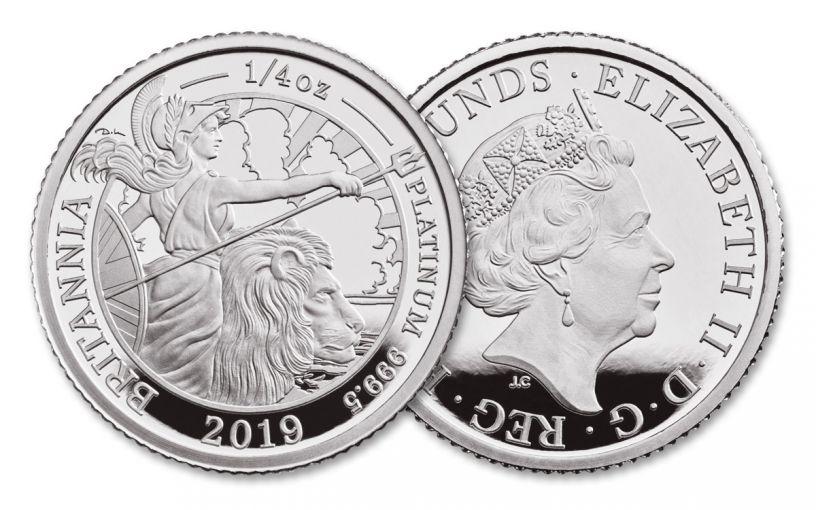 2019 Great Britain £25 1/4-oz Platinum Britannia Proof