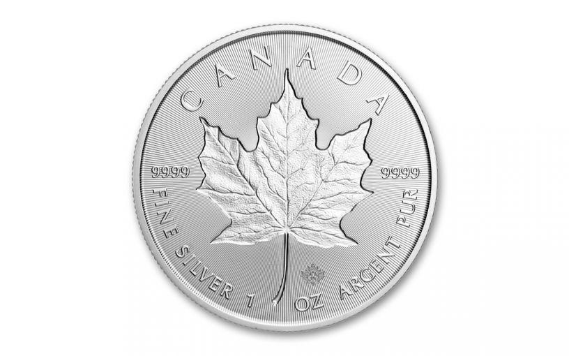 2019 Canada $5 1-oz Silver Maple Leaf Incuse BU