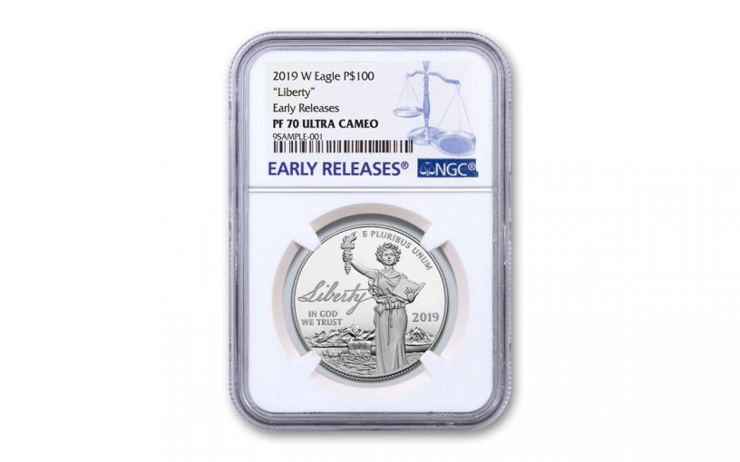 2019-W $100 1-oz Platinum American Eagle Liberty NGC PF70UC Early Releases