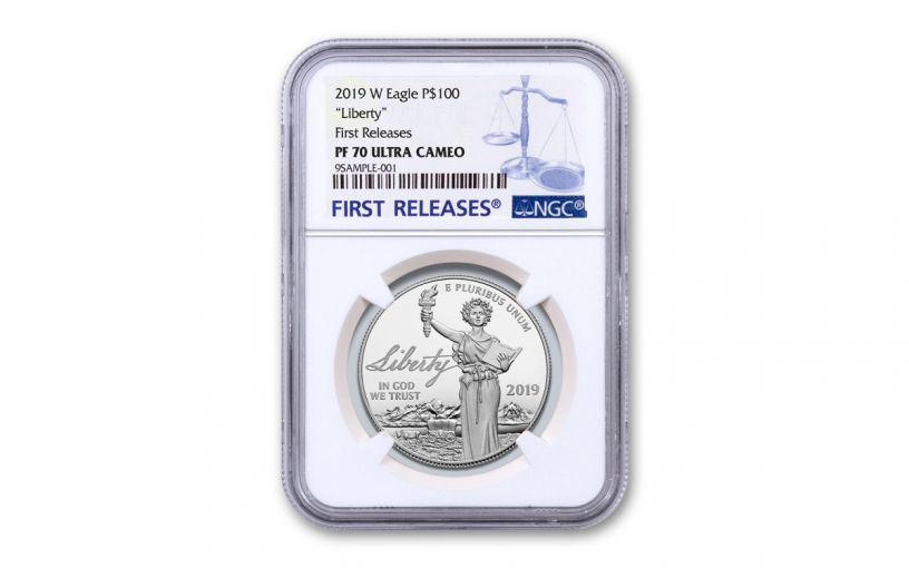 2019-W $100 1-oz Platinum American Eagle Liberty NGC PF70UC First Releases