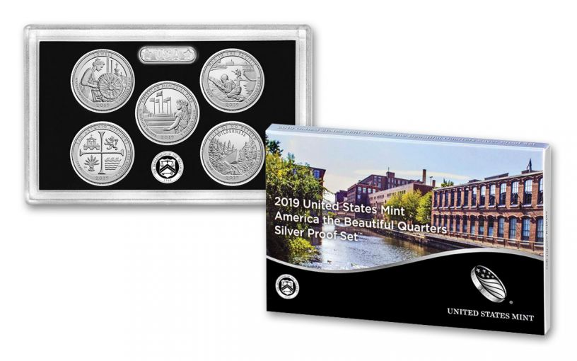 2019-S America The Beautiful 5-Piece Quarters Proof Set