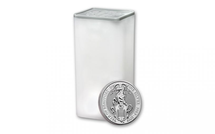 2019 Great Britain £5 2-oz Silver Queen's Beasts Yale of Beaufort BU 10-Piece Roll
