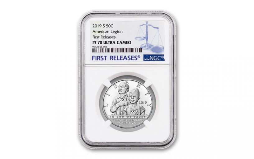 2019-S Clad Half Dollar American Legion 100th Anniversary Commemorative NGC PF70UC First Releases