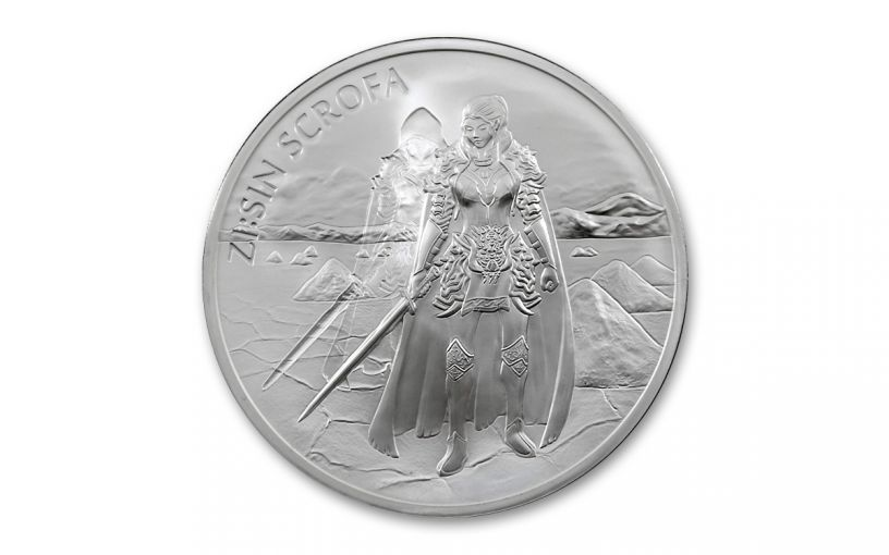 2019 South Korea 1-oz Silver ZI:SIN Ghost Scrofa Medal BU