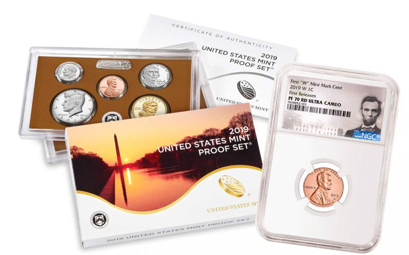 2019-W Lincoln Cent NGC PF70 RD UCAM First Releases + 2019-S United States Proof Set NGC Gem Proof First Releases