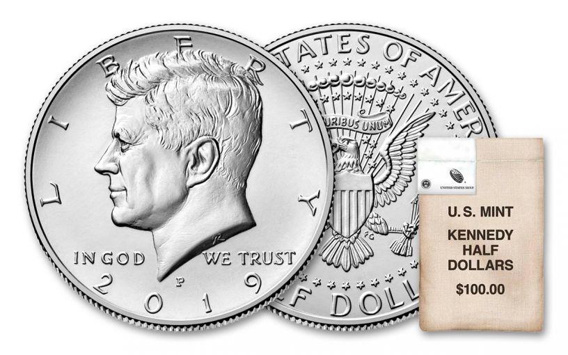 2019-P-D Kennedy Half Dollar 200-Piece Coin Bag