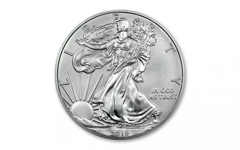 2019-W $1 1-oz Burnished Silver American Eagle BU
