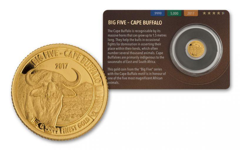 2016 Tanzania Half Gram Gold Big Five - Buffalo Proof