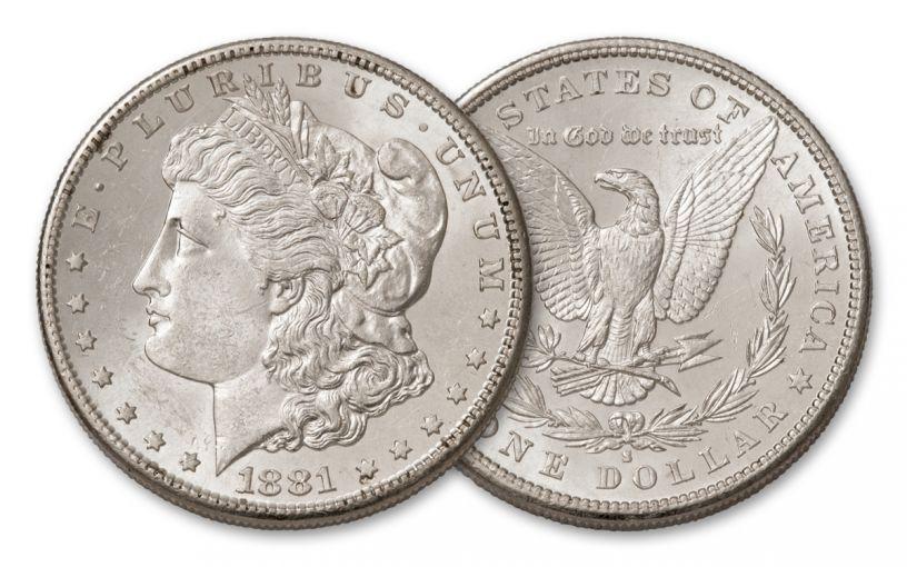 1881-S Morgan Silver Dollar BU