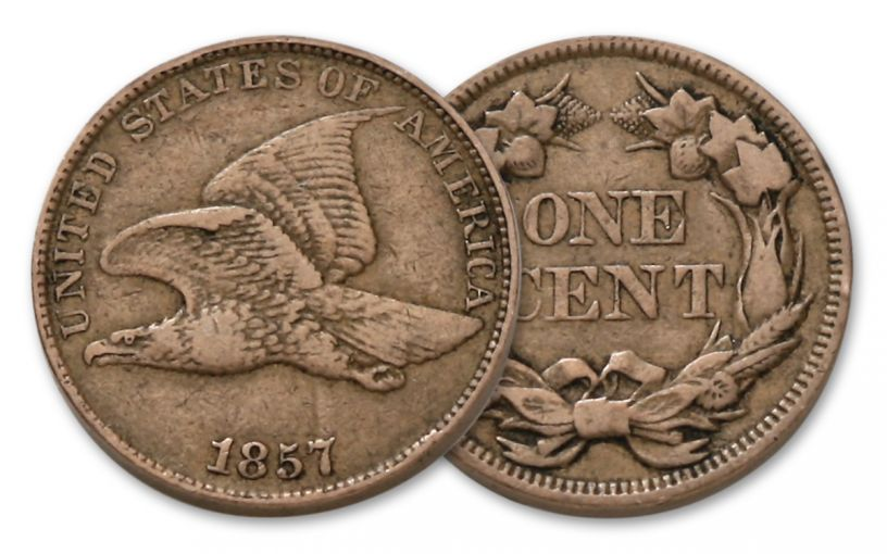 1857-1858 1 Cent Flying Eagle Fine Condition