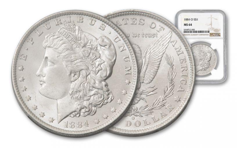 1884-O $1 MORGAN NGC/PCGS-MS64