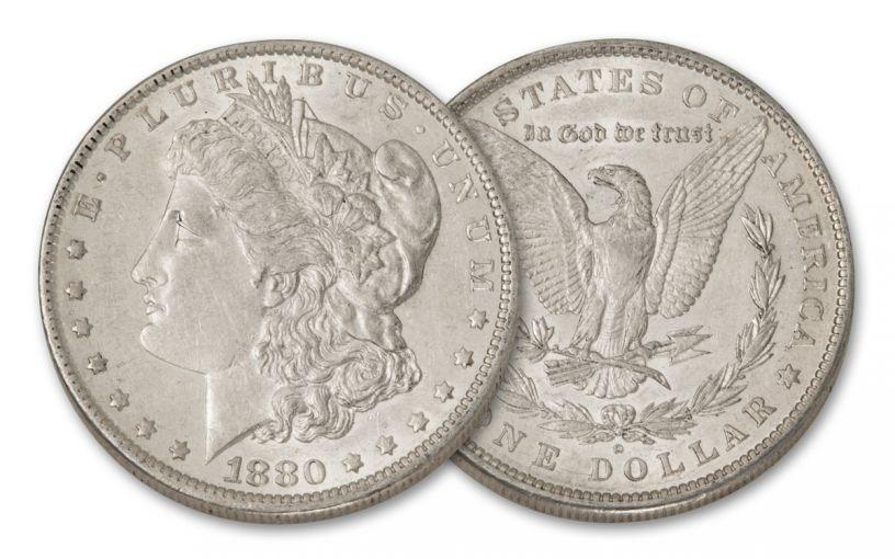 1880-O Morgan Silver Dollar AU