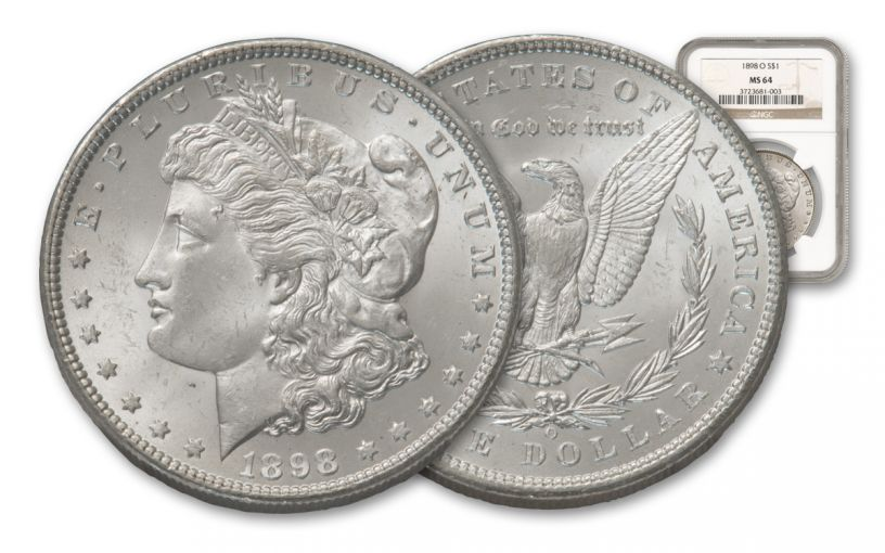 1898-O $1 MORGAN PCGS/NGC MS64