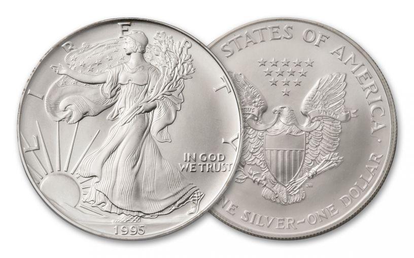 1995 $1 1-oz Silver Eagle BU
