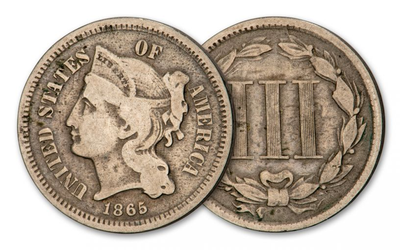 1865 Three-Cent Nickel Fine