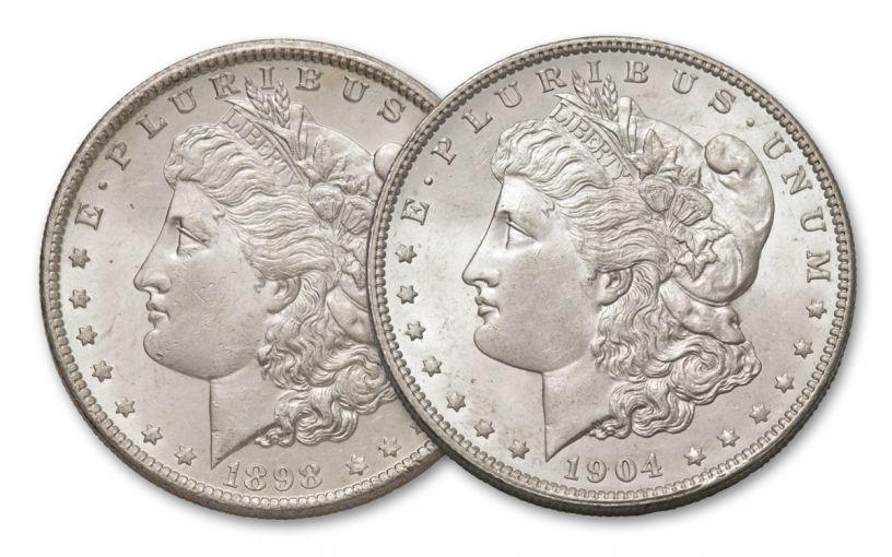 1898–1904-O Morgan Silver Dollar 2-pc Set BU