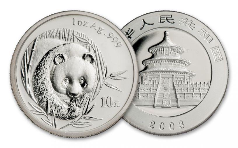 2003 China 1-oz Silver Panda BU