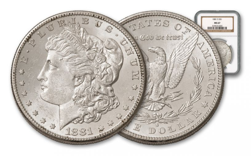 1881-S Morgan Silver Dollar NGC MS67