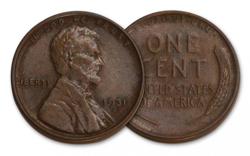 1931-S 1 Cent Lincoln AU