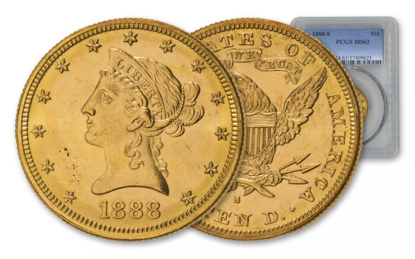1888-S $10 Gold Liberty PCGS MS63