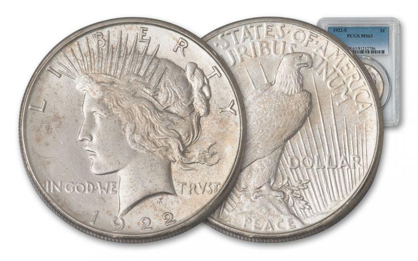 1922-S Peace Dollar PCGS MS63