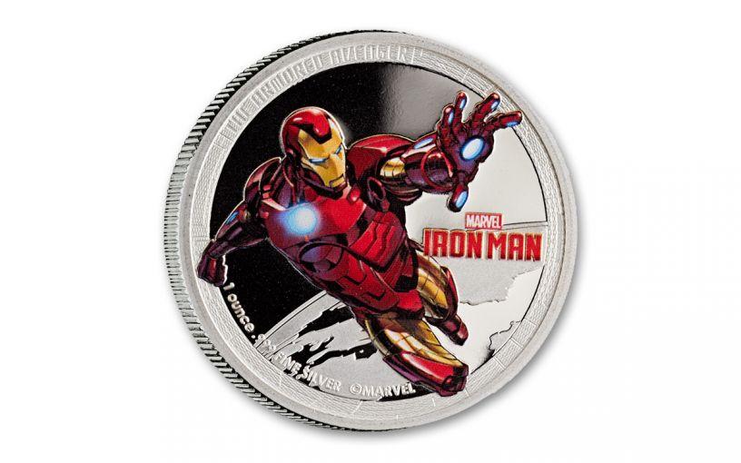 2014 Niue $2 1-oz Silver Avengers Iron Man Proof